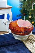 Baked ham with orange-mustard glaze