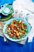 Roast pumpkin and heirloom tomtato salad