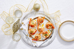 Christmas with Woman s Day - All the trimmings! - Roasted Tomato & Prawns Tarts