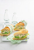 Chicken and celery baguettes