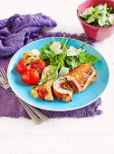 Turkey involtini with rocket salad