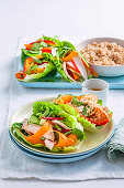 Poached thai chicken with coriander dressing