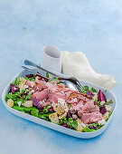 Roast lamb and beetroot salad