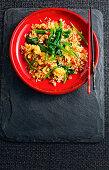 Fried rice with goji berries