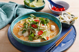 Spicy coconut fish soup