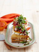 Ricotta and vegetable mille-feuille