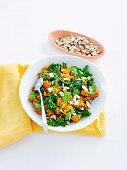 Kale, kumara and chicken biryani
