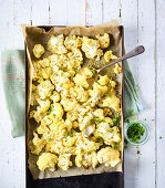 Baked cauliflower with masala and brie