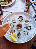 Fresh Oysters with tabasco