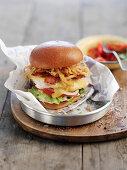 A 'big bird burger' with ostrich meat