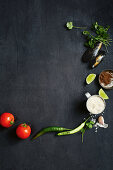 Ingredients for Seafood Biryani