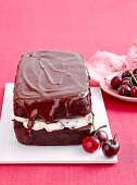 Egg-free chocolate and cherry loaf