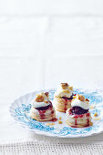 Cranberry and goat's cheese vol au vents