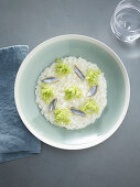 Risotto with broccoli and anchovies