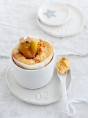 Spicy moelleux with foie gras and figs