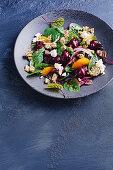 Roast beetroot salad with savoury granola