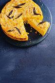 Gluten-free spaghetti and pumpkin pie
