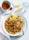 Creamy Pumpkin and Pork Ragu with Linguini