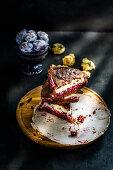 Chocolate cheesecake with cherry
