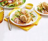 Pork Gyoza Salad