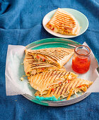 Chicken and Coleslaw Pizza Pockets