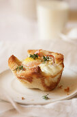 Baked Egg Toast with Bacon Thyme