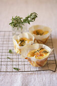 Egg Souffles with Fresh Oregano
