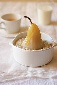 Vanilla Porridge with Cooked Pears
