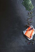 Ingredients for Chirashi scattered sushi (Japan)