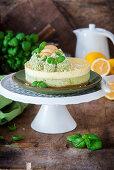 Basil lemon cheesecake