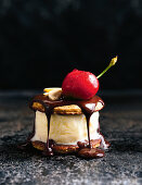 Banana split ice-cream sandwiches
