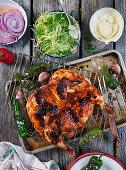 Grilled flat chicken