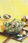Prawn, feta and mint couscous