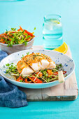 Miso Fish with Sprout Salad
