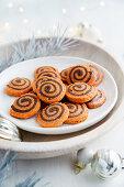 Orangen-Schokoladen-Schnecken