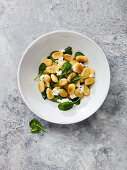 Gnocchi with spinach, ricotta and olive oil
