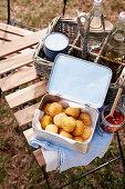 Crispy arancini balls