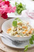 Summer butternut squash risotto