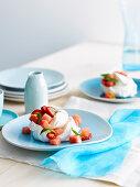 Vanilla Meringue with Watermelon salad