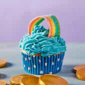 Regenbogen-Cupcake