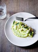 Mackerel tartare, pickled cucumber and creme-fraiche