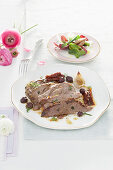 Roast lamb with fennel