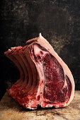 Raw prime rib steaks