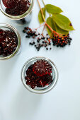 Homemade with elderberry cordial