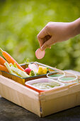 Summer Vegetables with Avocado Dip