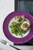 Artichokes with lemon and peas (Italy)