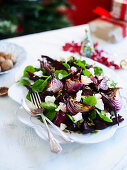Roast Beetroot and goat s cheese salad