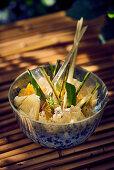 Pineapple with lemongrass and aloe vera