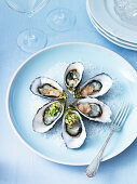 Oysters with Three Toppings