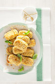 Cheese and courgette croquettes